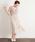 SweetMommy(授乳服&マタニティ)(スウィートマミー)の「チュールレース切替 半袖授乳ワンピース(マタニティウェア)」|モカ