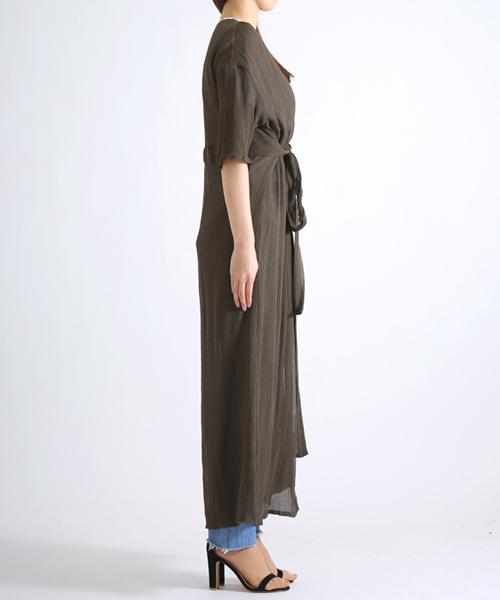 LI HUA / リーファー:Silk Long Gillet:EOK7702[ANN]