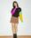 NiCORON(ニコロン)の「フロントボタンミニスカート○(スカート)」|ブラウン