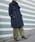 allureville(アルアバイル)の「メリンプビーバーステンカラーコート(ステンカラーコート)」|ネイビー
