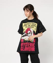 NAUGHTY GIRLS ジャカード ビッグTシャツ