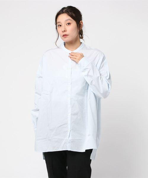 【GALLEGO DESPORTES】ラージ バンドカラーシャツ WOMEN