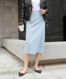 MODE ROBE(モードローブ)のギンガムチェックタイトスカート(スカート)