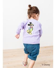 petit main(プティマイン)の【DISNEYコラボ】バックアップリケサーマル長袖Tシャツ(Tシャツ/カットソー)