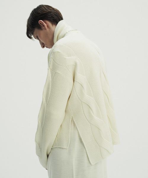 JUHA(ユハ)の「CROP CABLE KNIT(ニット/セーター)」|ホワイト