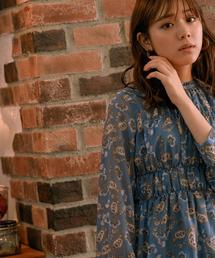 Andemiu(アンデミュウ)のペイズリーシャーリングブラウス850157(シャツ/ブラウス)