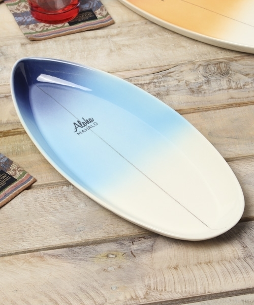 BAYFLOW(ベイフロー)の「BAYFLOW/ALOHAサーフボードプレート(食器)」|ブルー