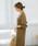 select MOCA(セレクトモカ)の「鹿の子編みニットワンピース(Vネック長袖ロング丈サイドスリットニットワンピース)(ワンピース)」|詳細画像