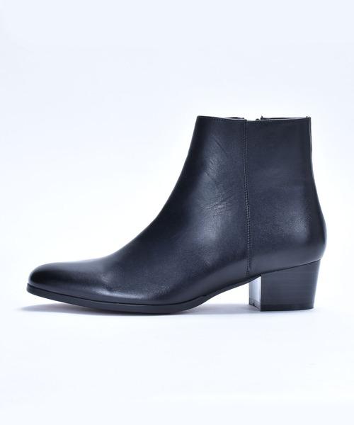 endevice(エンデヴァイス)の「ジップ ヒールブーツ / ドレスブーツ endevice / エンデヴァイス(ブーツ)」|ブラック