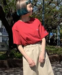 Champion(チャンピオン)の【別注】Champion刺繍Tシャツ(Tシャツ/カットソー)