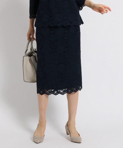 人気デザイナー [L]ヴァネッサレースタイトスカート(スカート) INDIVI(インディヴィ)のファッション通販, 直久:f4f43bcb --- 888tattoo.eu.org