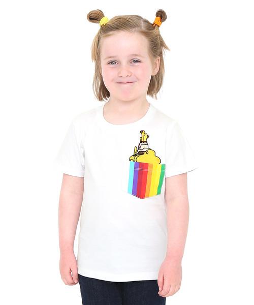 コラボレーションキッズTシャツ/イエローサブマリンレインボーポケット(ザビートルズ)