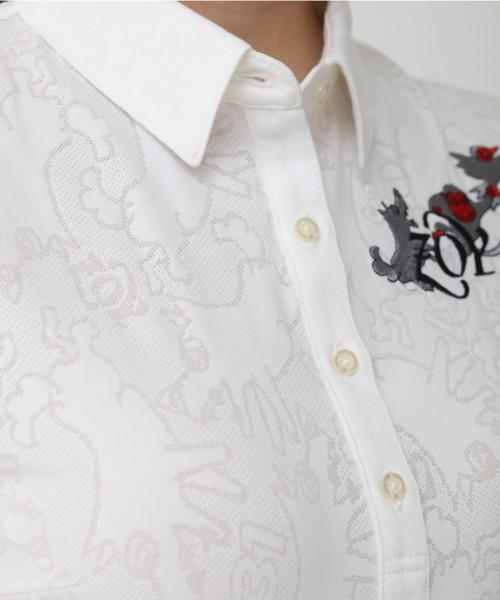 ZOY(ゾーイ)の「《ZOY》どんぶらこメッシュJQキャップスリーブポロシャツ(ポロシャツ)」 詳細画像