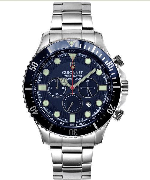 GUIONNET HYDROMASTER ギオネ ハイドロマスター  クロノグラフ  300m防水  腕時計
