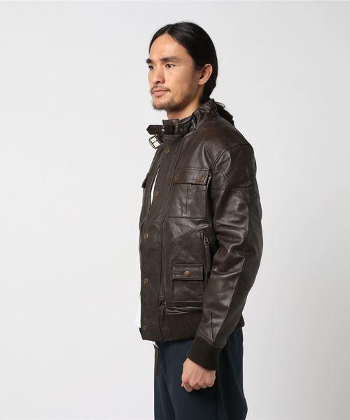 ラムスキンライディングジャケット