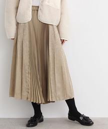YEAR FEW OF MY FAVORITE THINGS(イヤーフューオブマイフェイバリットシングス)のダマスクJQ ランダムプリーツSK(スカート)
