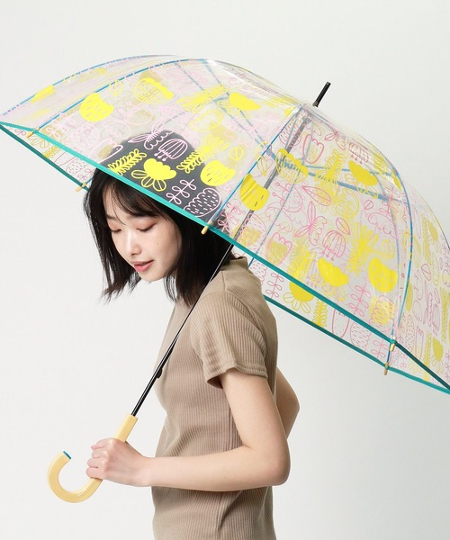 【 korko / コルコ 】 総柄プリントビニール傘 KOR-60POE OGW ・・  アンブレラ