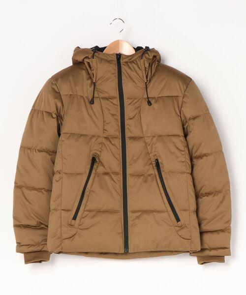 防風ストレッチ中綿ジャケット 防風加工  ストレッチ素材