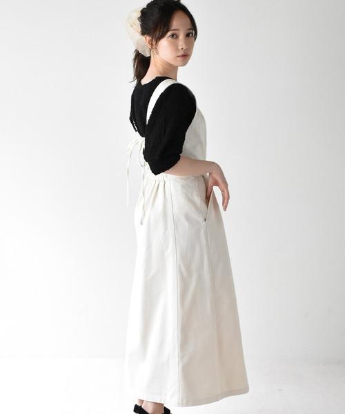 バックリボンアソートジャンパースカート