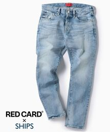 RED CARD(レッドカード)のRED CARD×SHIPS: 別注 ジャストレングス ストレッチ スリムテーパードデニム【RHYTHM】(デニムパンツ)