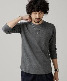 nano・universe(ナノユニバース)のワッフルラウンドTシャツL/S(Tシャツ/カットソー)