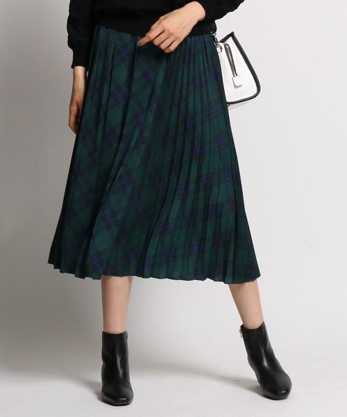 【ギフ_包装】 [S]【ハンドウォッシュ】タータンチェック切り替えプリーツスカート(スカート)|INDIVI(インディヴィ)のファッション通販, 釣鐘屋本舗:d41d8cd9 --- teamab.de