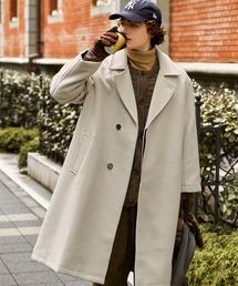 オーバーサイズ ビーバーメルトン ロングチェスターコート2020-2021WINTER(EMMA CLOTHES)ホワイト系その他