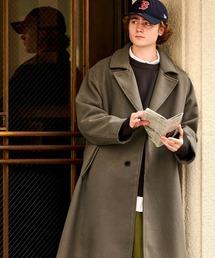 オーバーサイズ ビーバーメルトン ロングチェスターコート2020-2021WINTER(EMMA CLOTHES)グレー