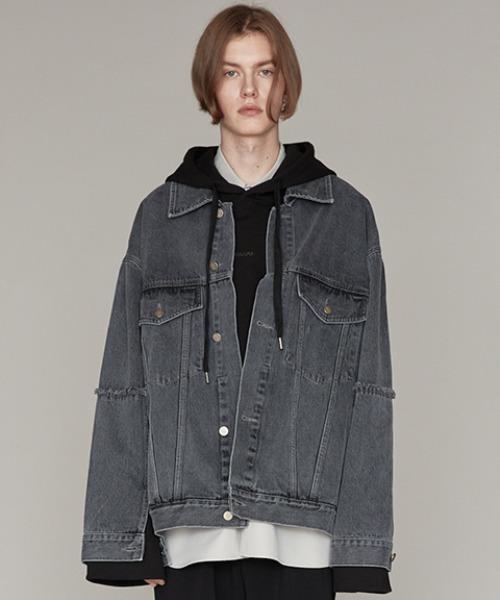 【同梱不可】 『ADD トラッカー ロー SEOUL』RAW EDGED DENIM TRUCKER JKT JKT/ ロー エッジ オーバーサイズ デニム トラッカー ジャケット(デニムジャケット)|ADD SEOUL(エーディーディーソウル)のファッション通販, BEAUTY SHOP LONDO BELL:417b7f41 --- annas-welt.de