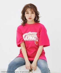 【コカ・コーラ/ファンタ/スプライト/チェリーコーク】Drink CollectionコラボTシャツピンク