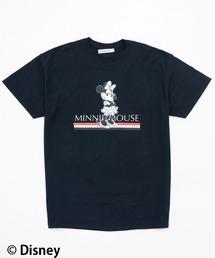 【Disney(ディズニー)/ミニーマウス】Tシャツブラック