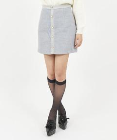 スイッチングパール釦ミニスカート