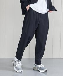 <H>WOOL SILK POPLN EASY PANTS/パンツ