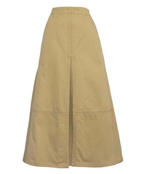 <Drawer(ドゥロワー)> コットンツイル切り替えスカート