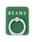 bpr BEAMS(ビーピーアール ビームス )の「BEAMS / カラーリング(スマホ用)(モバイルアクセサリー)」|グリーン