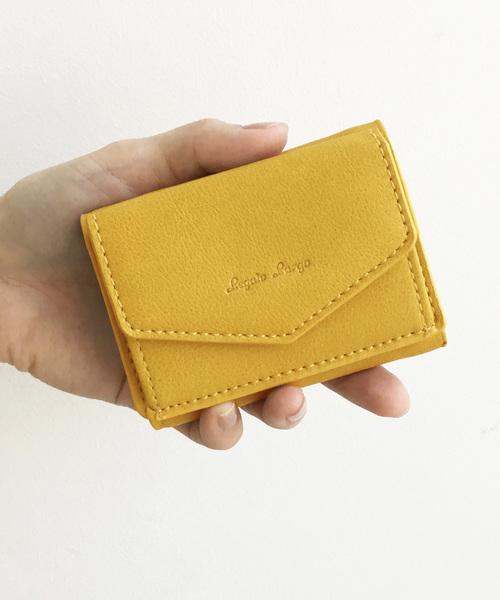 511768d5d1c0 (ハコ)のLegato Largo シュリンクフェイクレザー三つ折りミニ財布(