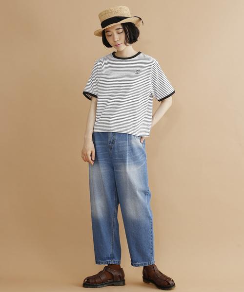 <岡村優太さんコラボ>animal刺繍リンガーTシャツ2665