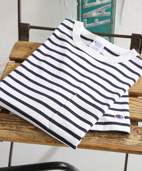 Champion×DOORS 別注ポケットTシャツ