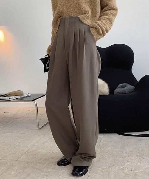 【chuclla】【2020/AW】High rise wool blend slacks chw1389