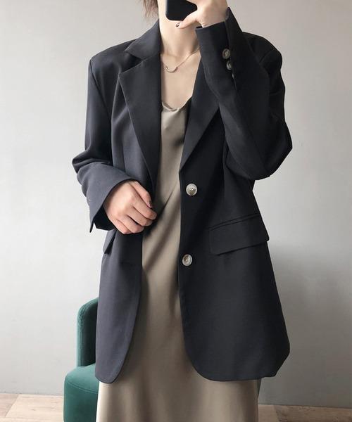 aimoha(アイモハ)の「テーラードジャケット(テーラードジャケット)」|ブラック