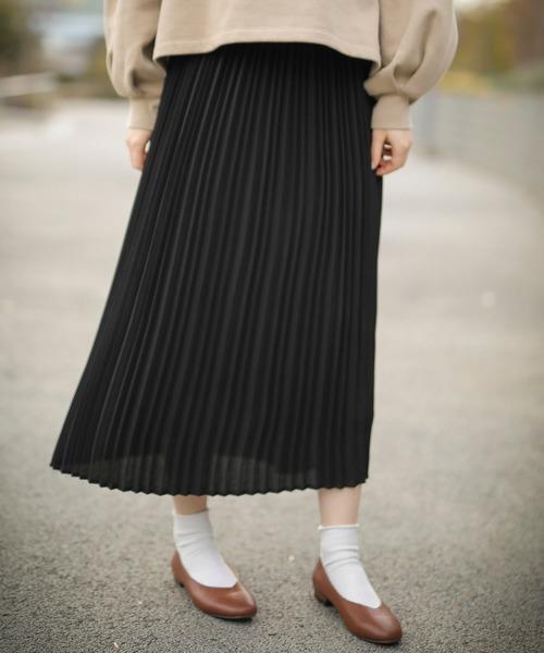 ミモレ丈プリーツスカート*