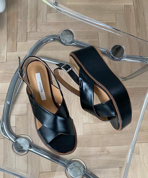 【chuclla】Platform crossed belt sandal sb-6 chs46