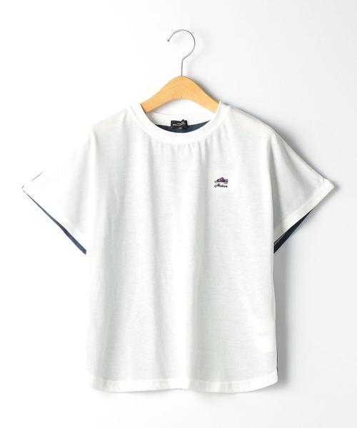 【ジュニア】〔吸水速乾〕F/BバイカラードルマンTシャツ