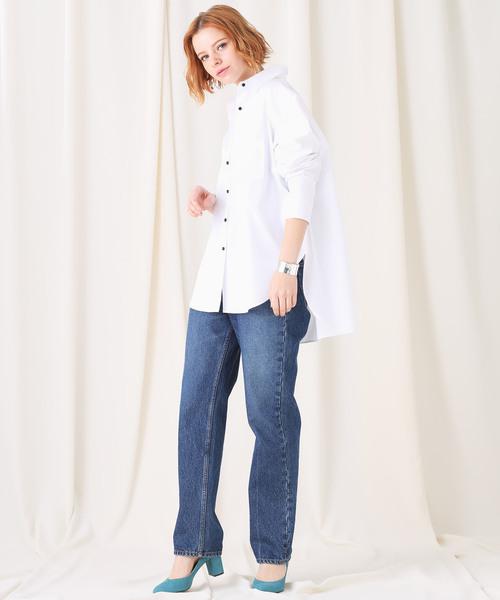 【STUDIOUS】ビックシルエット 切り替えシャツ