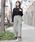 FELLINI(フェリーニ)の「ウエストリボンカットパンツ(その他パンツ)」|グレー系その他