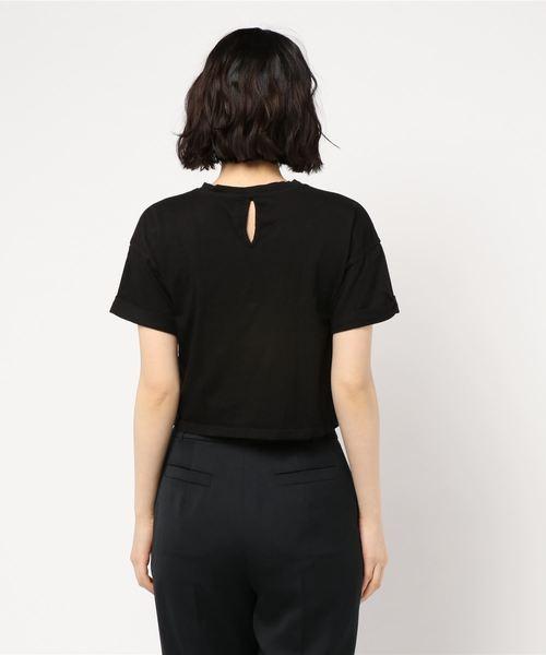【MADE IN ITALY】ロールアップスリーブショートTシャツ