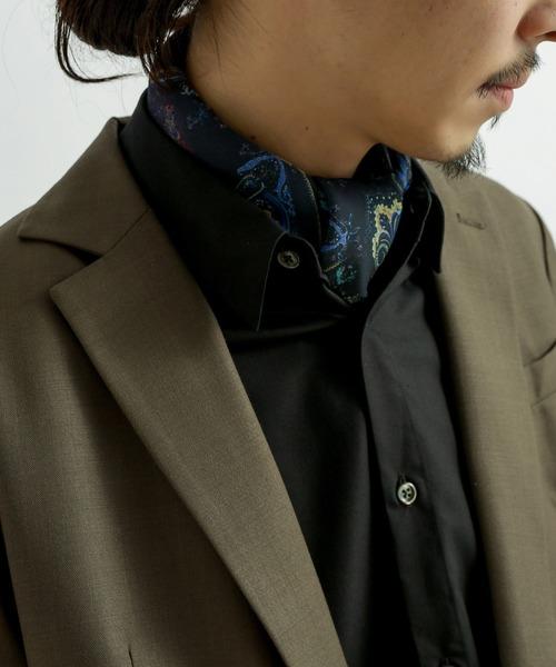 Lui's(ルイス)の「オリジナルペイズリー柄スカーフ(バンダナ/スカーフ)」|ネイビー