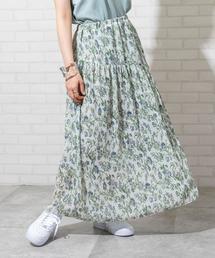 楊柳フラワープリントスカート