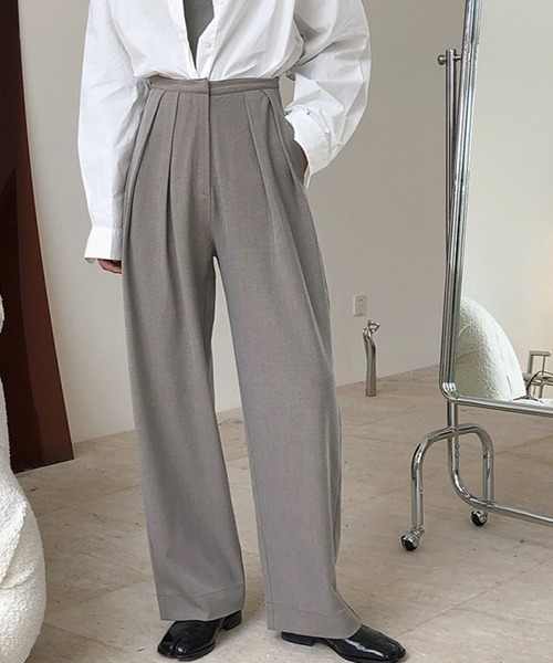 【chuclla】【2020/AW】Two-tuck slacks chw1391