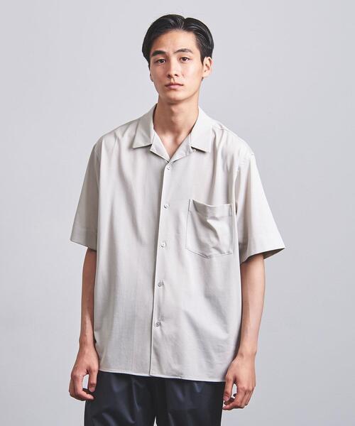 <UNITED ARROWS> スムース オープンカラーシャツ